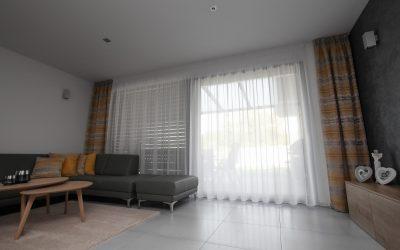 Záclona a záves do obývačky