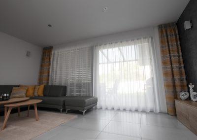 záclony a závesy v modernom dome