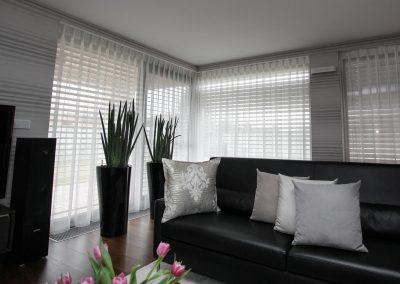 záclony v obývačke