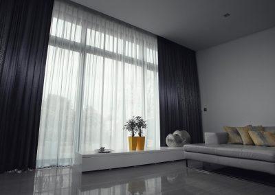 luxusné záclony a závesy v obývačke